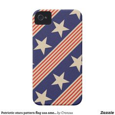 Patriotic stars pattern flag usa american Case-Mate iPhone 4 cases #usa #america