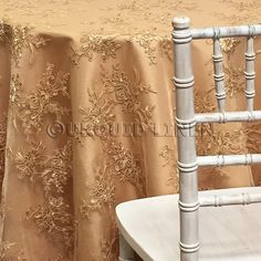Champagne Lace Tablecloth