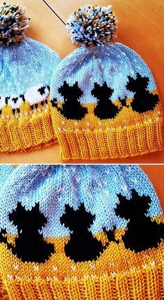 Meowf Hat - Free Pattern - Knitting is as easy as 3 Knitting is .Meowf Hat - Free Pattern - Knitting is as easy as 3 Knitting comes down to three Knitting Stitches, Knitting Patterns Free, Knit Patterns, Free Knitting, Baby Knitting, Free Crochet, Free Pattern, Knit Crochet, Crochet Hats
