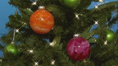 """Homemade ornaments from """"Clintons Craft Corner- The Chew"""""""