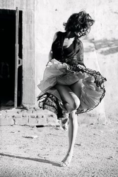 The dress inspires dancing. Lots and lots of DANCING!