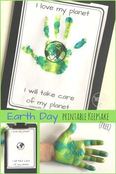 Earth Day printable keepsake