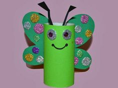 Butterfly with toilet paper roll Crafts To Make, Crafts For Kids, Arts And Crafts, Diy Crafts, Butterfly Drawing, Butterfly Crafts, Plastic Bottle Crafts, Paper Plate Crafts, Classroom Crafts