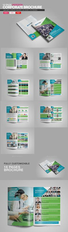 16 Page InDesign Corporate Brochure  Template • Download ➝ https://graphicriver.net/item/16-page-indesign-corporate-brochure/14111148?ref=pxcr