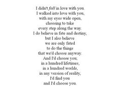 I still choose you. What do you choose?