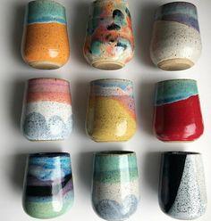 Ceramic Cups, Ceramic Pottery, Pottery Art, Ceramic Art, Clay Crafts, Diy And Crafts, Arts And Crafts, Pottery Painting, Ceramic Painting