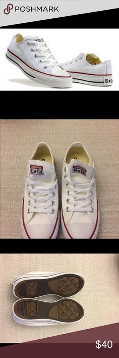 Converse All Star men shoes size 6 Start your day in style. Brand new. Original converse all Star. White color. Size men 6 / Women 8. Canvas material . Without box. Converse Shoes Sneakers