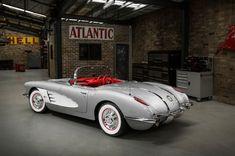 Right-Hand-Drive Restomod 1958 Corvette from Australia 1958 Corvette, Old Corvette, Chevrolet Corvette, Chevy, Vintage Cars, Antique Cars, Vintage Auto, Car Paint Colors, Classic Car Restoration