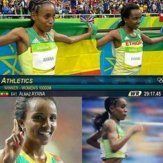 #Rio2016 #Ethiopia #tiruneshdibaba #almazayana #umadeusproud 👍👍
