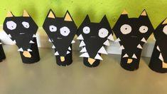 Summer Crafts, Diy Crafts For Kids, Arts And Crafts, Farm Animal Crafts, Animal Projects, Animal Activities, Activities For Kids, Tier Wolf, Wolf Craft