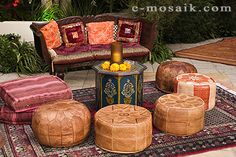 Moroccan Decor, Mediterannean Decor and life style for exotic Arabian Night Parties.