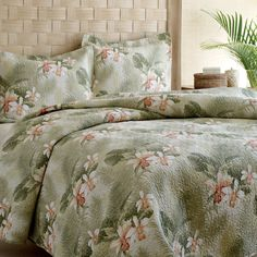 Found it at Wayfair - Tommy Bahama Tropical Orchid Quilt Set