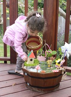 Help your child create their own fairy garden!