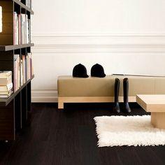 Mooie donkere vloer met houtlook. Quick-Step Laminaat Elite oude witte ...