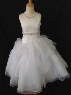 Christie Helene Communion Dress - P1314 Signature Collection - New 2015 - Ballerina Length First Communion dresses - First Communion Dress - Girls