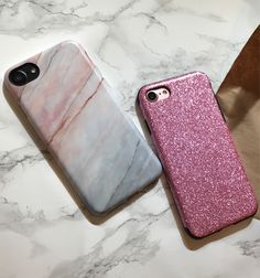 Smoked coral or glam? ✨ Smoked Coral & Pink Glam for iPhone 7 & iPhone 7 Plus from Elemental Cases