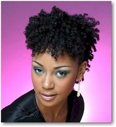 short natural african american hair | African American Wedding Hairstyles & Hairdos: Natural Curly Style ...