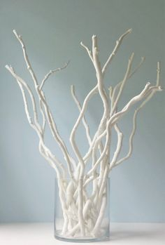 White Branches Curly Branches Bunch of by OutdoorIndoorDecor