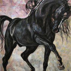 arabian horse paintings | Arabian Horse Duet Jana Fox And Oleg Dyck Art Studio Cologne Pictures