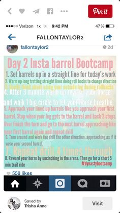 Day2 Barrel Racing Exercises, Barrel Racing Tips, Horse Exercises, Horse Camp, My Horse, Horse Love, Horses, Horse Riding, Barrel Train