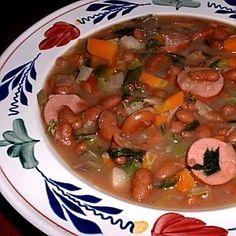 bruine bonen soep - brown bean soup