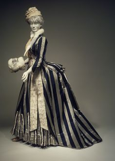 1885 dress Worth walking dress