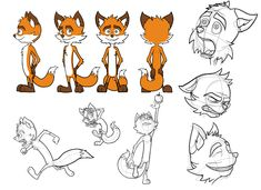 Murray the Fox (Model Sheet) by captainslam.deviantart.com on @DeviantArt