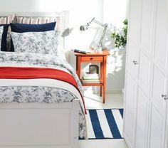 color design color accents ikea bedding bedroom blue white nautical