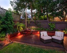 Terrasse Garten Pergola Sichtschutz Lounge Offene Feuerstelle ... Gestaltungsideen Essbereich Im Freien