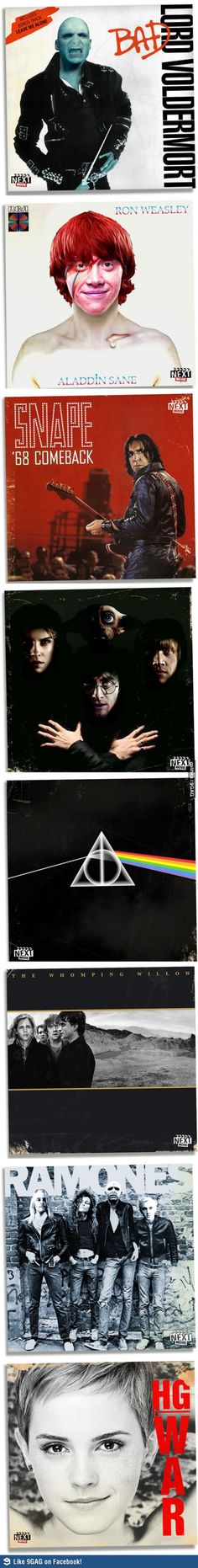 Harry Potter and Classic Album Covers lol