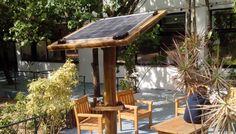 Poste Solar feito em bambu recebe prêmio