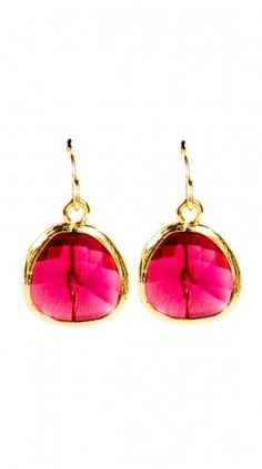 bright pink earrings