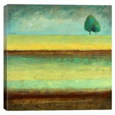 Canvas print of A Tree by a River by artist Pablo Esteban.  Product: Wall artConstruction Material: Cotton canvas and woodFeatures: Reproduction of art by Pablo Esteban