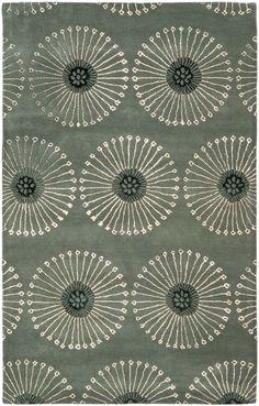 Grey & Ivory wool Soho rug / SOH821C / Safavieh Rugs