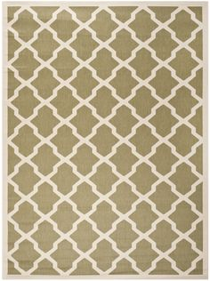 8x10 $214.51 Safavieh Courtyard Green/Beige Outdoor Area Rug & Reviews | Wayfair