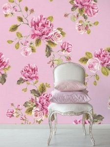 Tapetti 310001 Un bisou - 1 metrin pala Vintage Roses, French Vintage, Wall Treatments, Wall Wallpaper, Textured Walls, Wall Murals, Cool Pictures, Shabby, Wall Decor