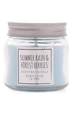"Primark - ""Summer Rain Berries"" Kerze im Glas Primark, Candle Lanterns, Candle Jars, Candle Diffuser, Summer Rain, Last Christmas, Candle Shop, Best Candles, Burning Candle"