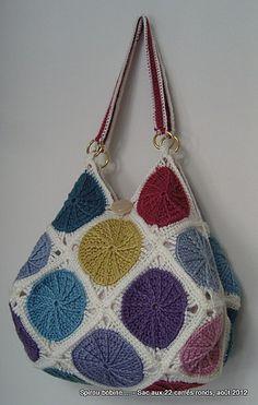 Ideia para uma bolsa de crochê