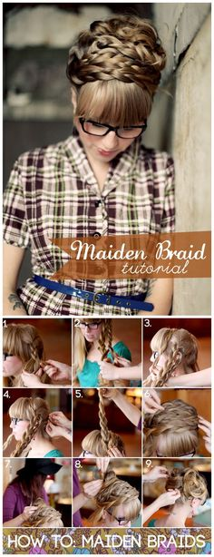 Hair Tutorial: Super Cute Maiden Braids.... Omg @Faith Cheatham you could totally pull this off!!!!