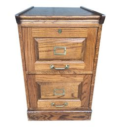Vintage Tradional Banker's Wood Filing Cabinet on Chairish.com