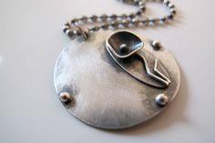 Romantic Flower silver neckace by ZizouArT on Etsy, $72.00