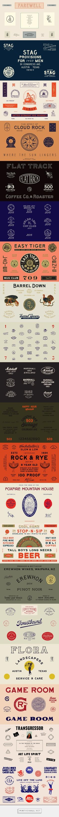 BRAND SPECIMENS http://www.workbyland.com/design - created via…