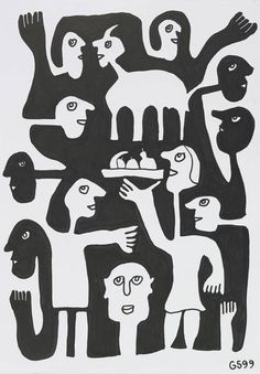 The Inner Unknown, and the Joy of Life Bad Art, Art Brut, Joy Of Life, Lonely Heart, Black N White Images, Naive Art, Outsider Art, Cubism, French Artists