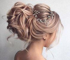 Curled Prom Hair, Messy Wedding Hair, Curls For Long Hair, Bridal Hair Updo, Elegant Wedding Hair, Bridal Hair Vine, Loose Curls, Wedding Updo, Perfect Wedding
