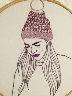 querida sputnik girl embroidery. Amazing cross stitch                                                                                                                                                                                 Mais