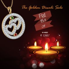 Diwali Sale, Indian Online, Diwali Gifts, Class Design, Gold Jewellery, Jewelry Design, Candles, Pendant, Store