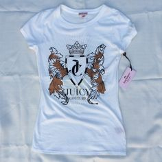Juicy Couture Top Brand new with tags. Super cute logo on the front. XS but will fit S Juicy Couture Tops