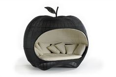 This is insanely cool: apple day bed // Brooks Furnishings Funky Furniture, Unique Furniture, Garden Furniture, Furniture Design, Outdoor Furniture, Outdoor Decor, Outdoor Daybed, Outdoor Hammock, Home Interior