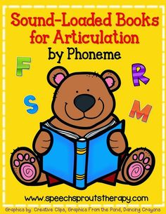 Sound loaded storybooks for articulation in speech therapy