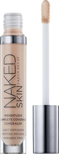 Urban Decay Naked Skin Weightless Complete Coverage Concealer #ad, makeup tutorial, ideas, tips, fall, products, natural, looks, brushes, hacks, hair styles, cuts, color, bun braids, long, nail designs, acrylic, winter, gel, fall, coffin, 2017, organization, hackes, dupes, prom, for teens, wedding, everyday, eyeshadow, for beginners, diy, palette, drugstore, storage, lips, vanity, for blue eyes, contour, kylie jenner, simple, christmas, bridal, face, glitter
